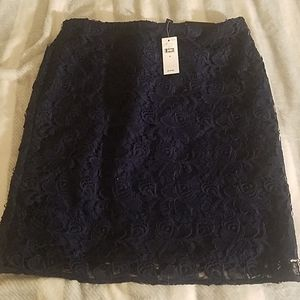 Banana Republic Navy Blue Lace Skirt